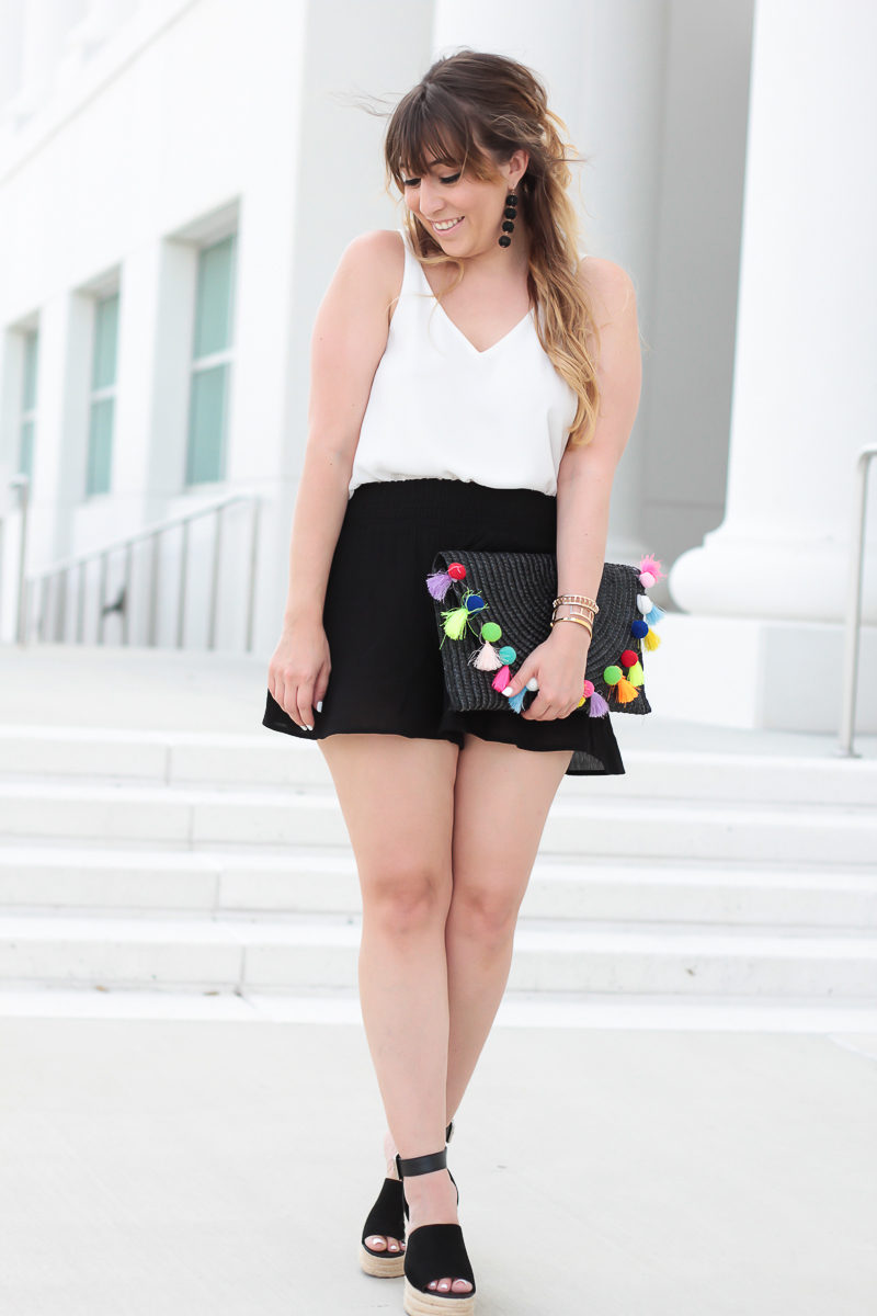Miami fashion blogger Stephanie Pernas styles a cami for a cute skort outfit idea