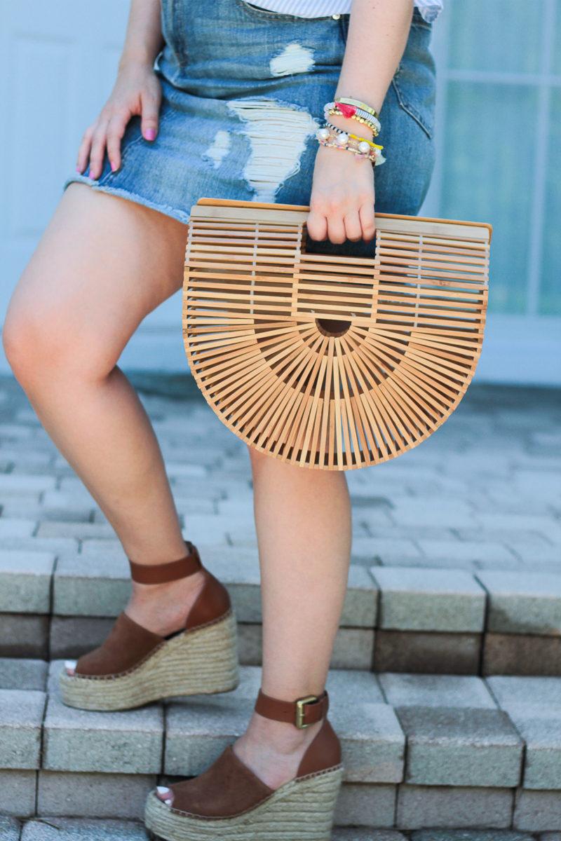 Miami fashion blogger Stephanie Pernas styles the Cult Gaia Gaia's Ark bag