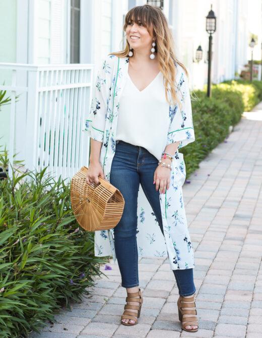 Kimono + Jeans outfit idea