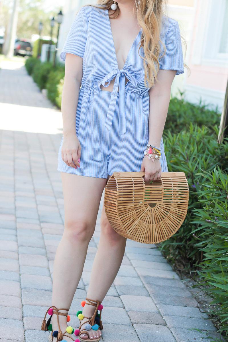 Miami fashion blogger Stephanie Pernas styles a Cult Gaia Gaia's Ark Dupe
