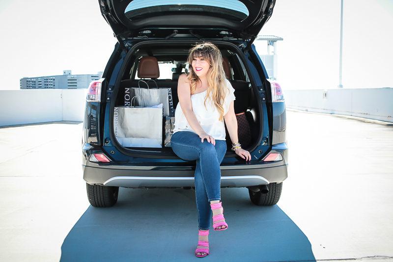 2017 Toyota RAV4 Hybrid and Miami fashion blogger Stephanie Pernas of A Sparkle Factor