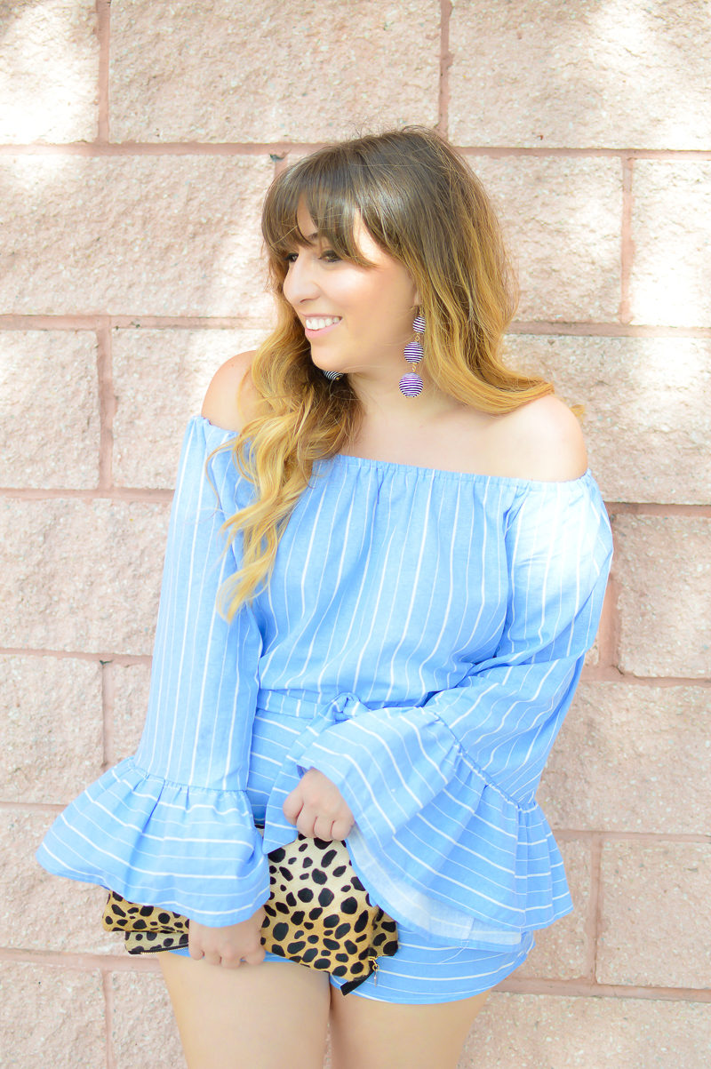 Miami fashion blogger Stephanie Pernas shares a romper outfit idea