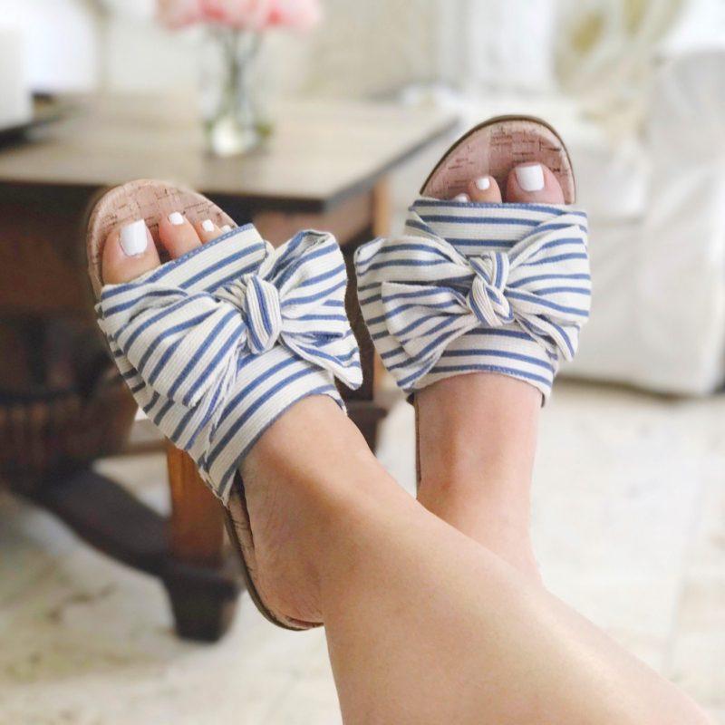 Sam & Libby stripe sandals