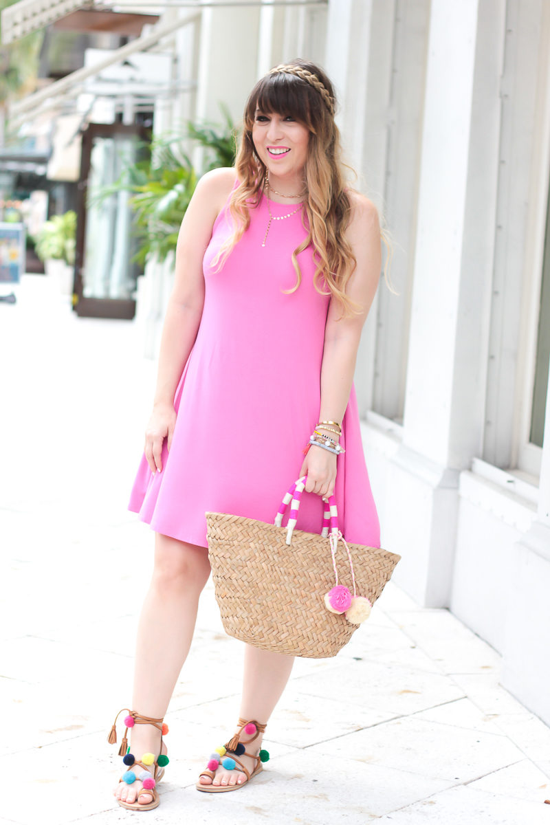 Summer outfit idea - jersey swing dress