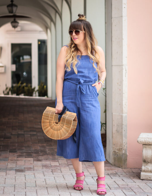 Old Navy denim culotte jumpsuit