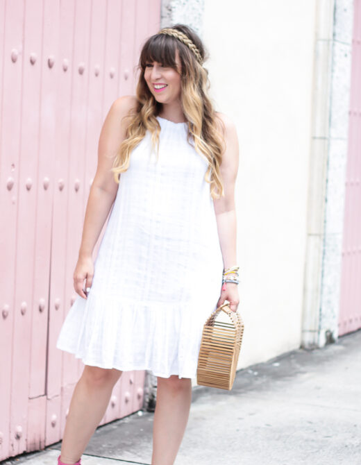 Old Navy white drop waist dress for summer-5