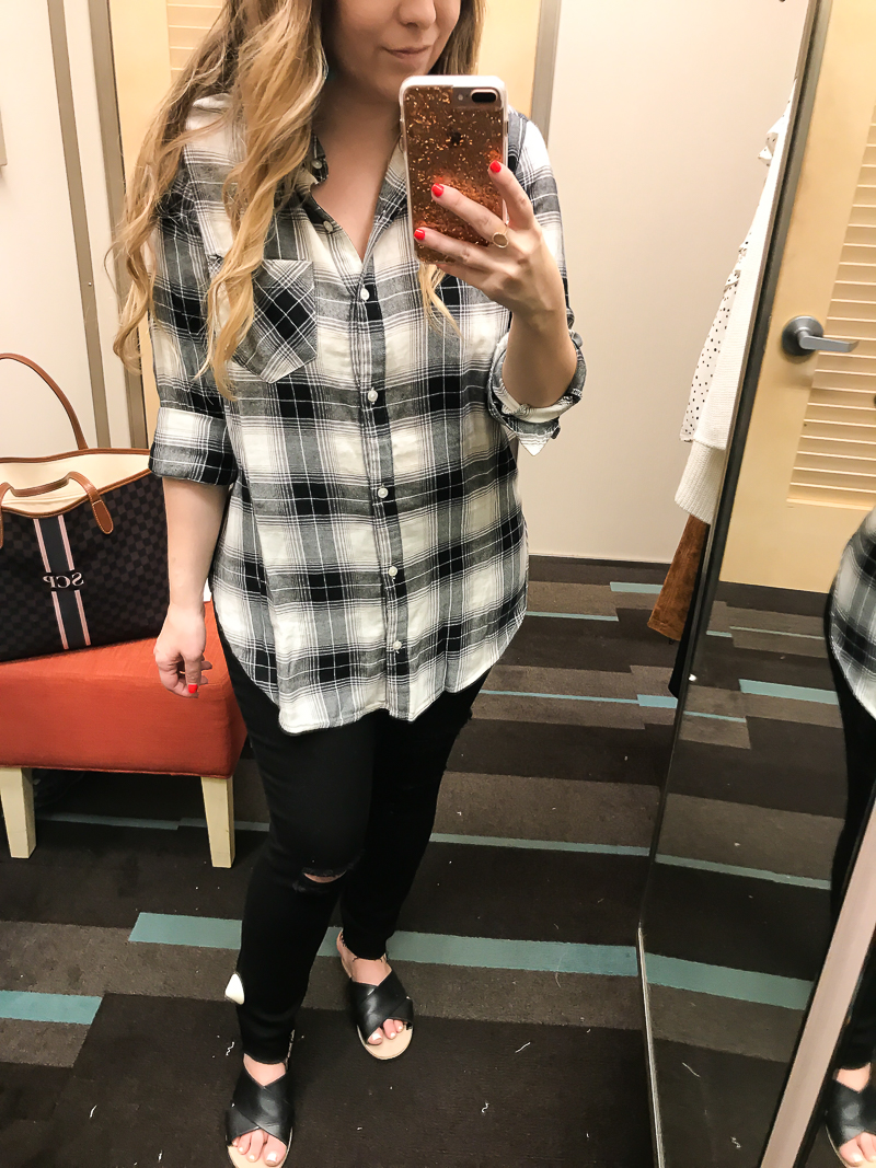 Nordstrom Anniversary Sale BP plaid button down tunic