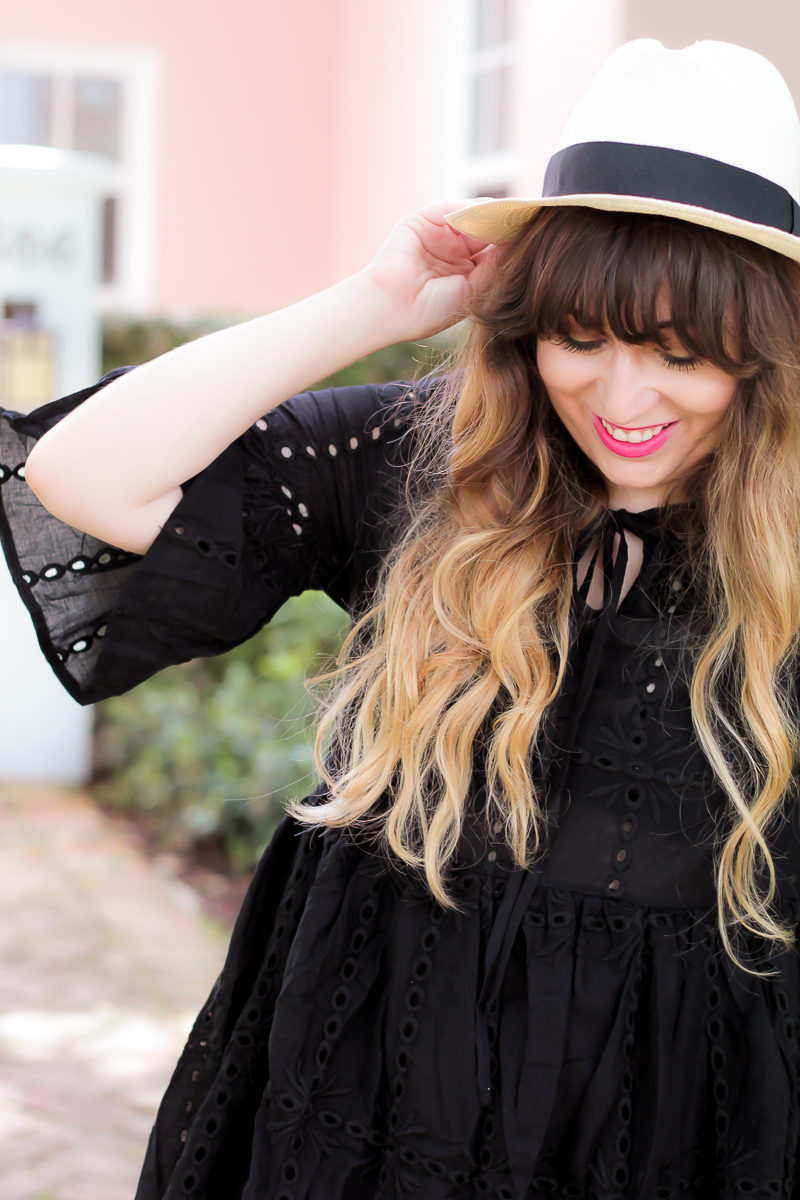 Miami fashion blogger Stephanie Pernas wearing a J.Crew Panama hat