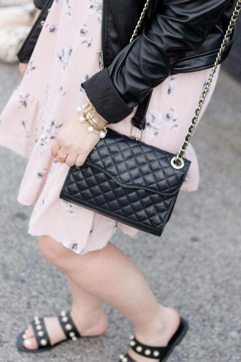 Miami fashion blogger Stephanie Pernas styles a Rebecca Minkoff quilted mini affair bag