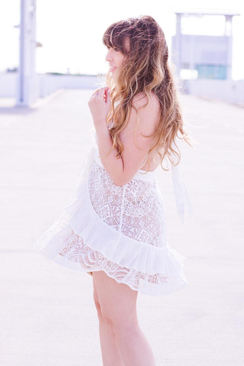 For Love + Lemons Lily lace halter dress