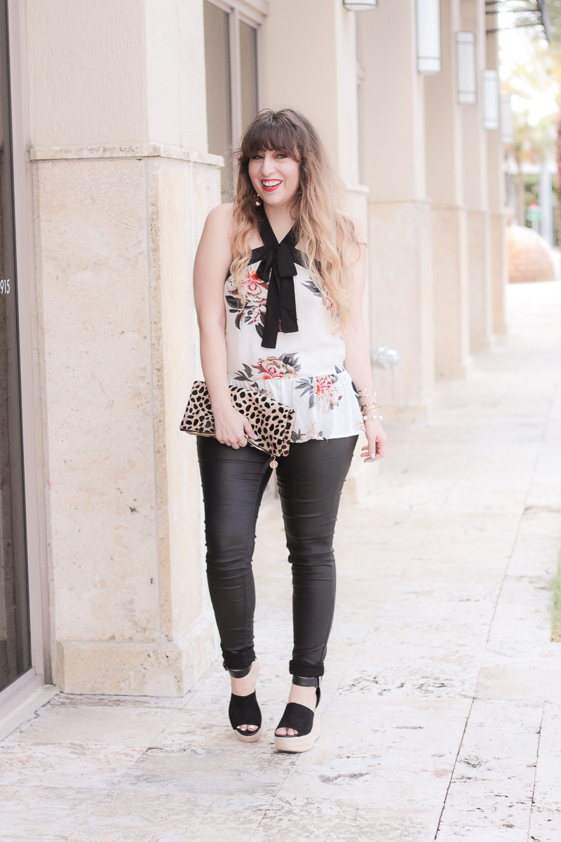 Miami fashion blogger Stephanie Pernas styles a summer to fall outfit