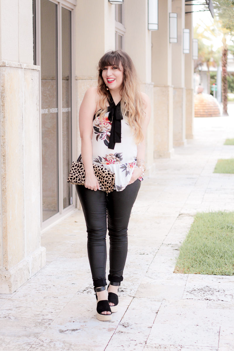Miami fashion blogger Stephanie Pernas styles a summer to fall transition outfit