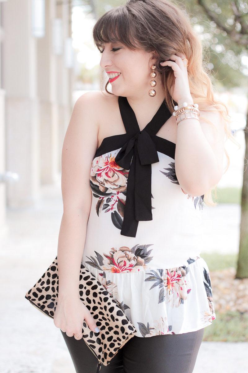 Miami fashion blogger Stephanie Pernas wearing Baublebar Mya earrings