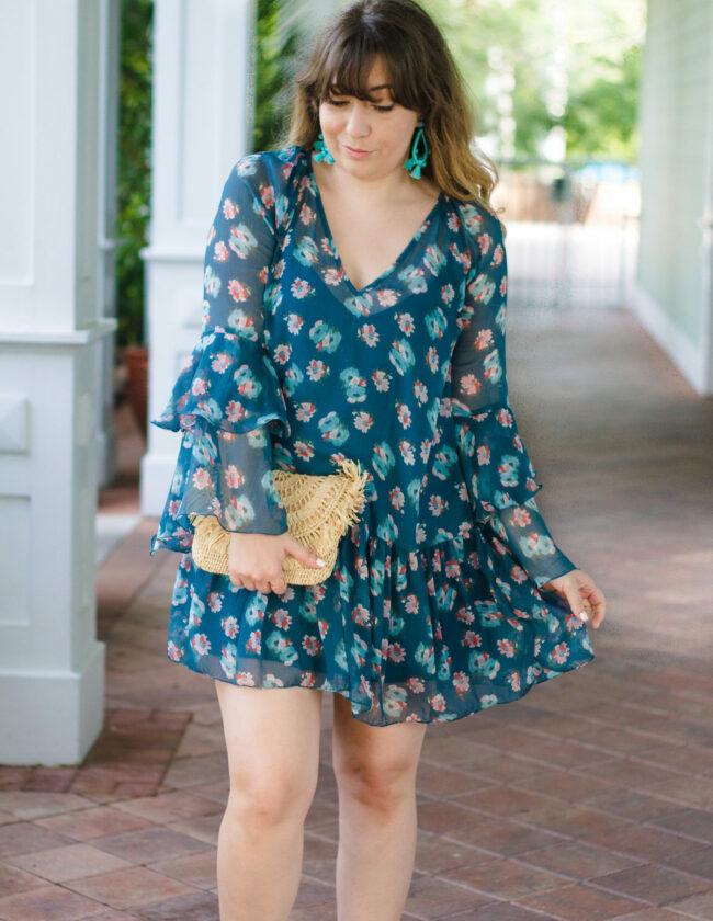 Nordstrom bell sleeve dress
