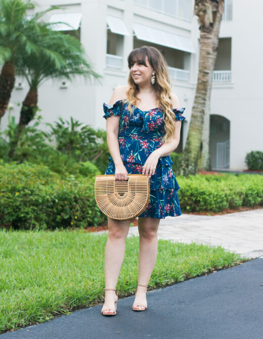Wayf floral off the shoulder dress
