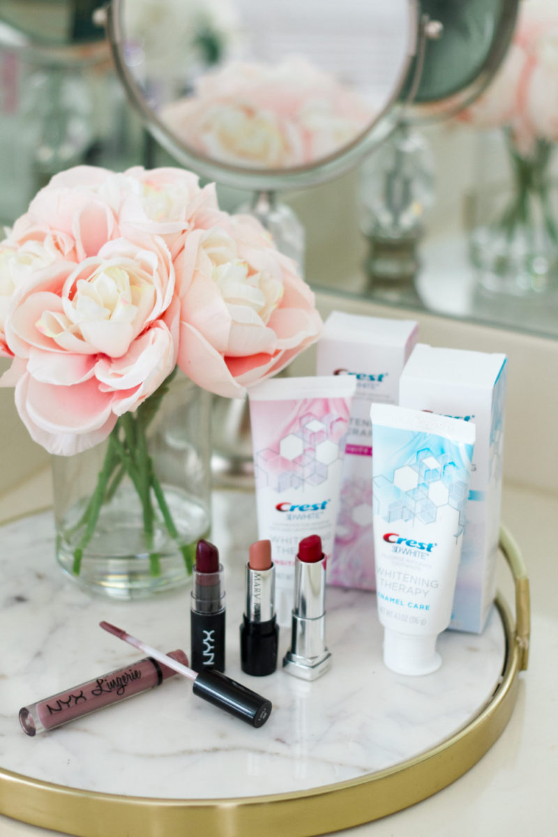 Favorite fall lipsticks and Crest 3D White Whitening Therapy review