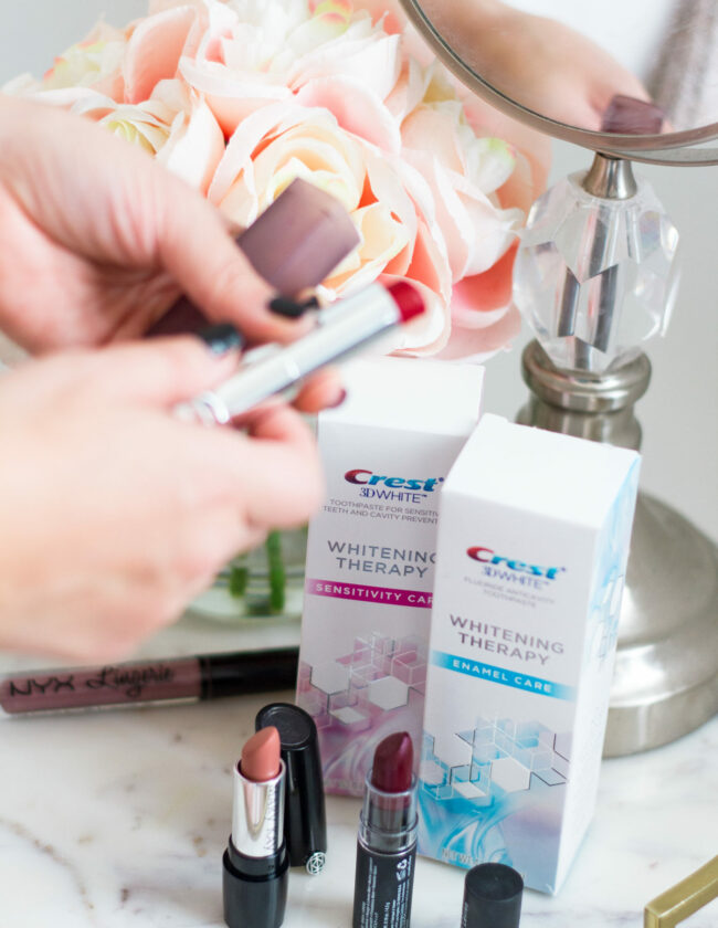 Favorite Fall Lipsticks with Crest 3D White Whitening Therapy