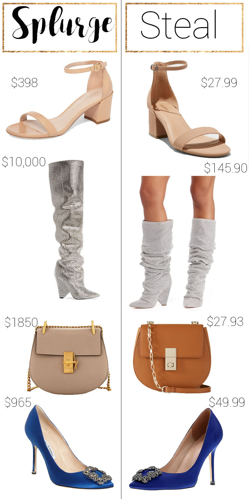Splurge vs Steal Shoes: Designer dupes