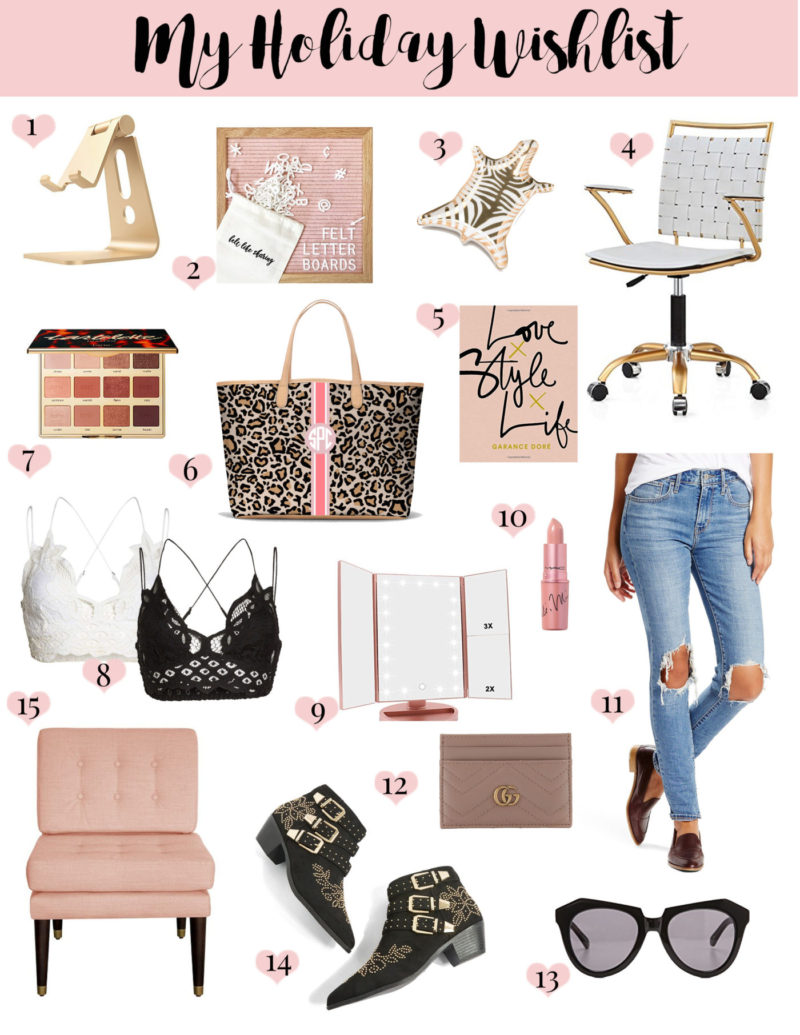 Sharing a gift guide, my own personal holiday wishlist