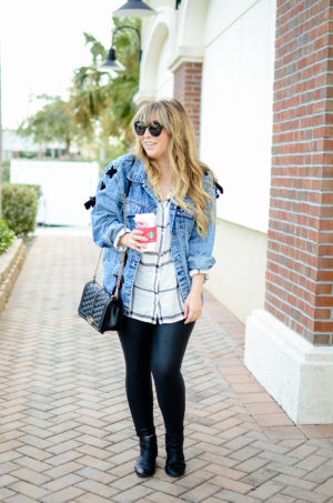 How to style an oversized jean jacket