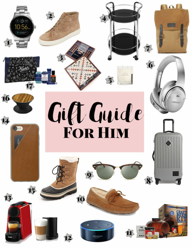 Gift Guide for Him: holiday gift ideas for men