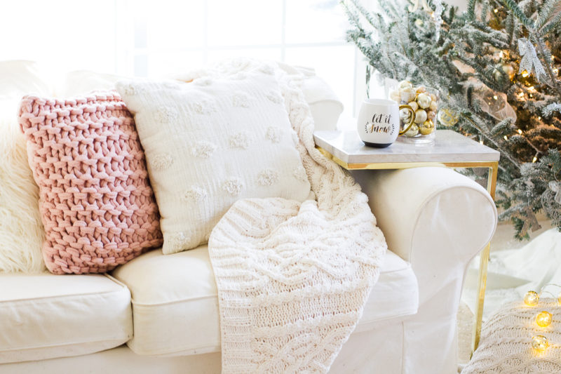 Cute holiday decor couch