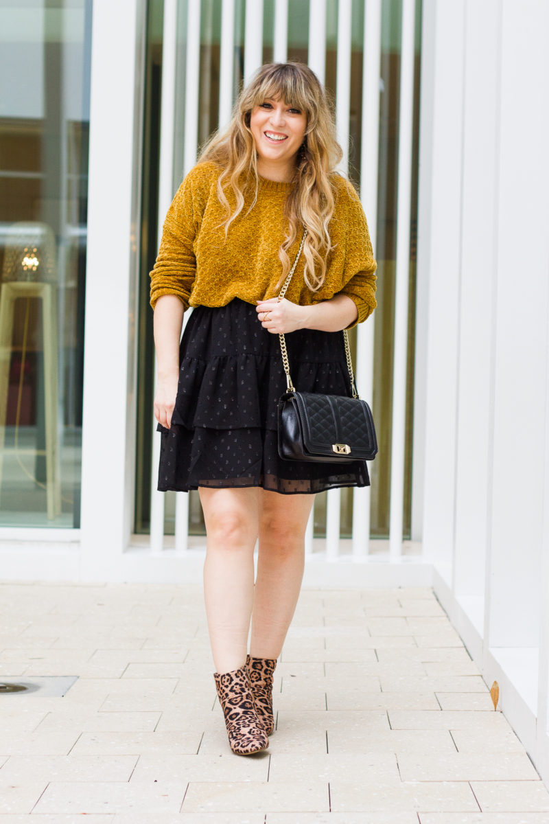 Chenille sweater outfit
