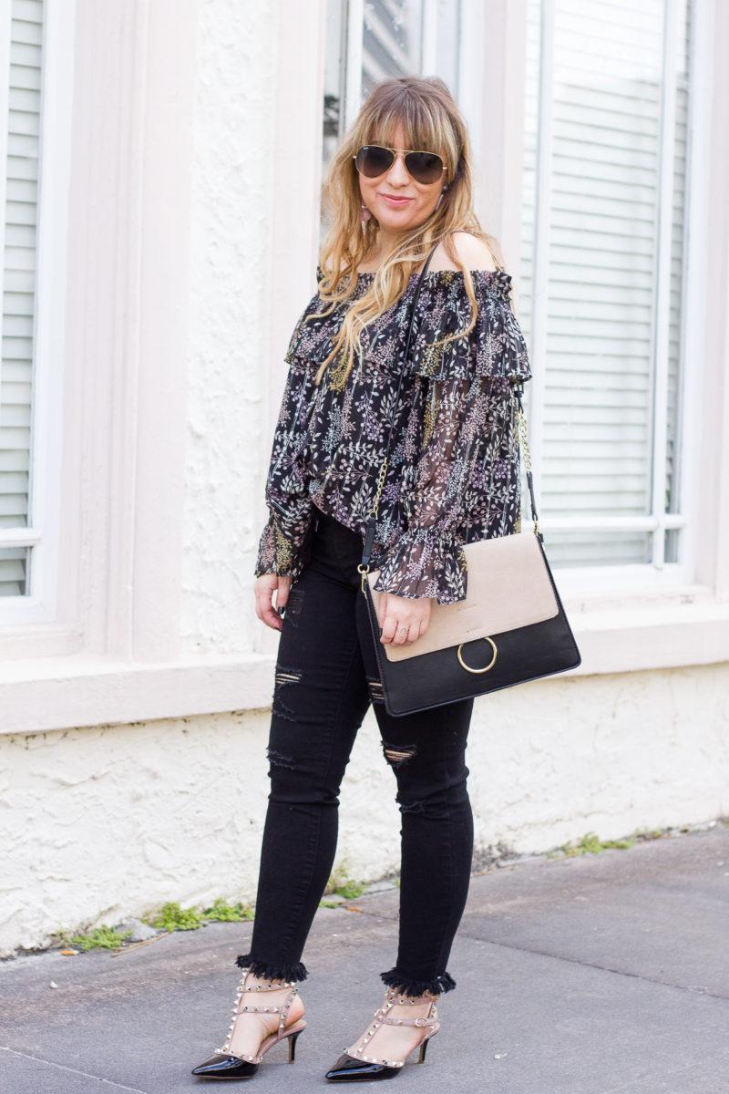 Black jeans outfit idea