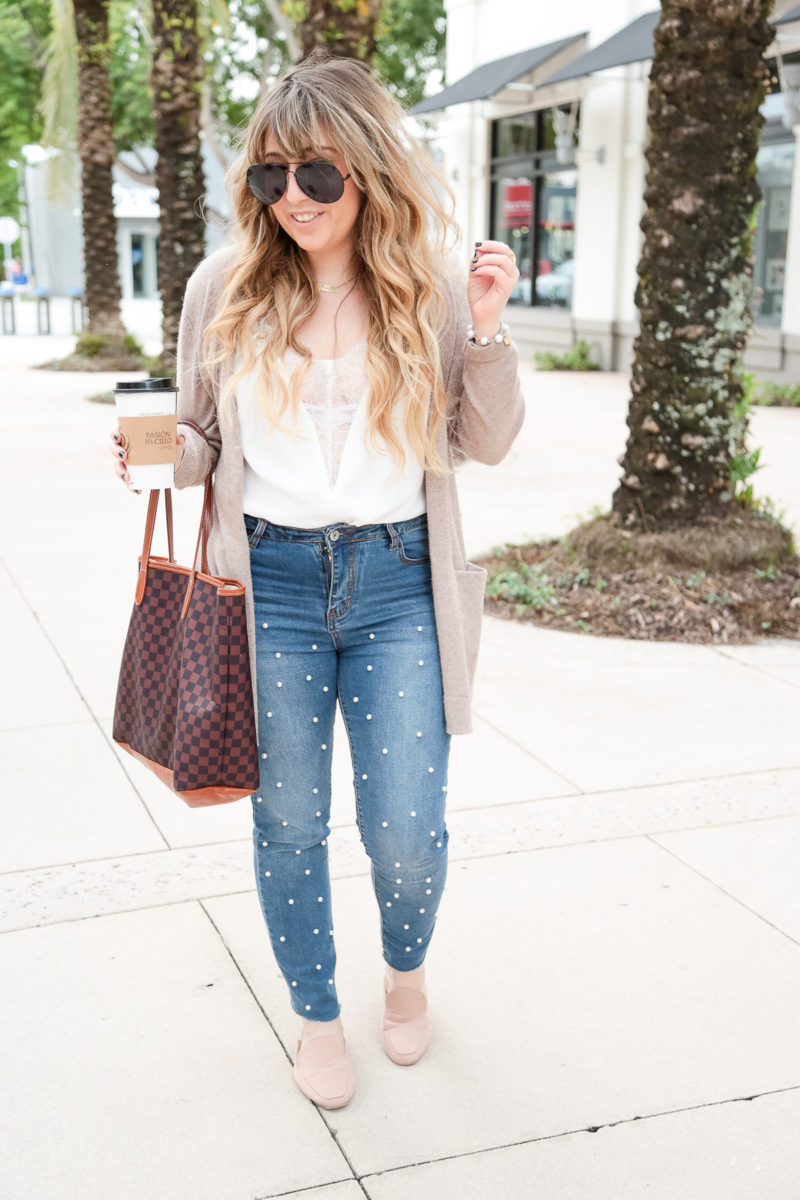 Pearl jeans outfit