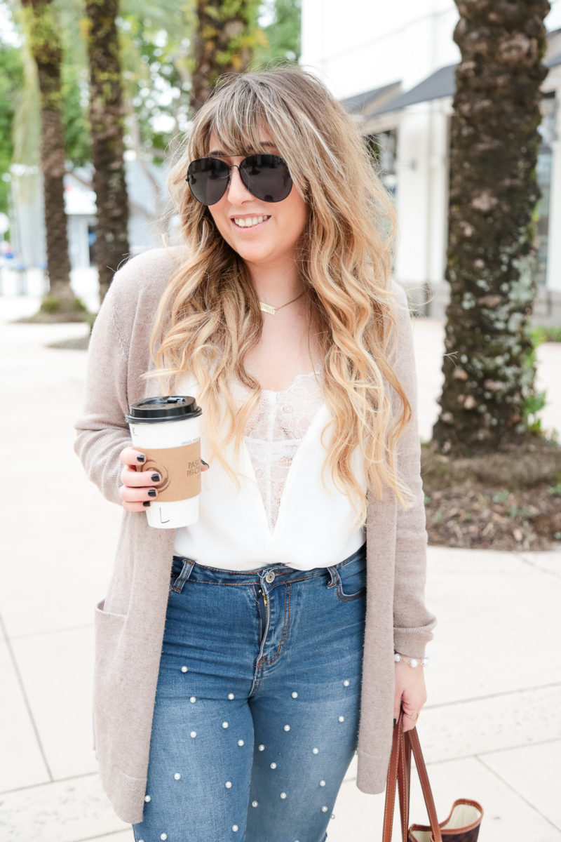 Cami and jeans outfit