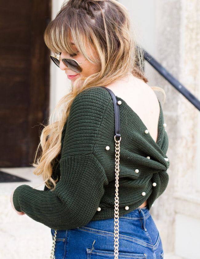 Cute pearl sweater