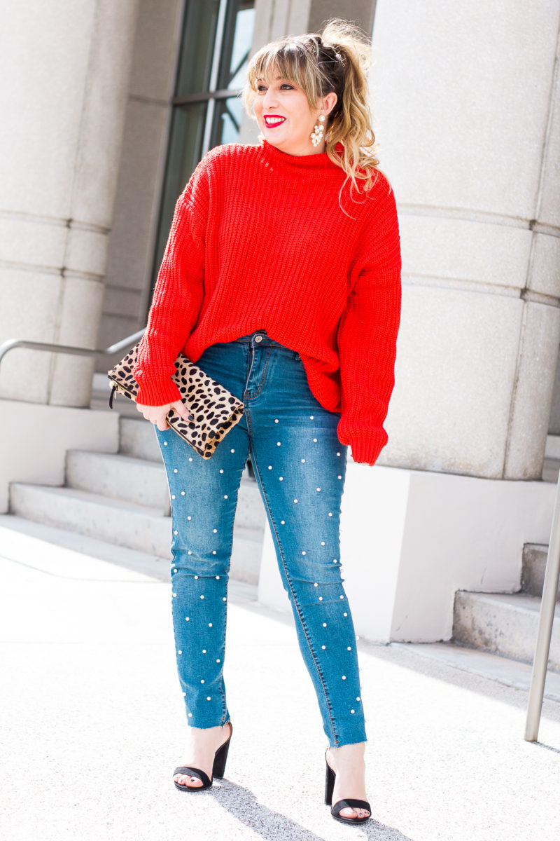 Valentine's Day jeans outfit