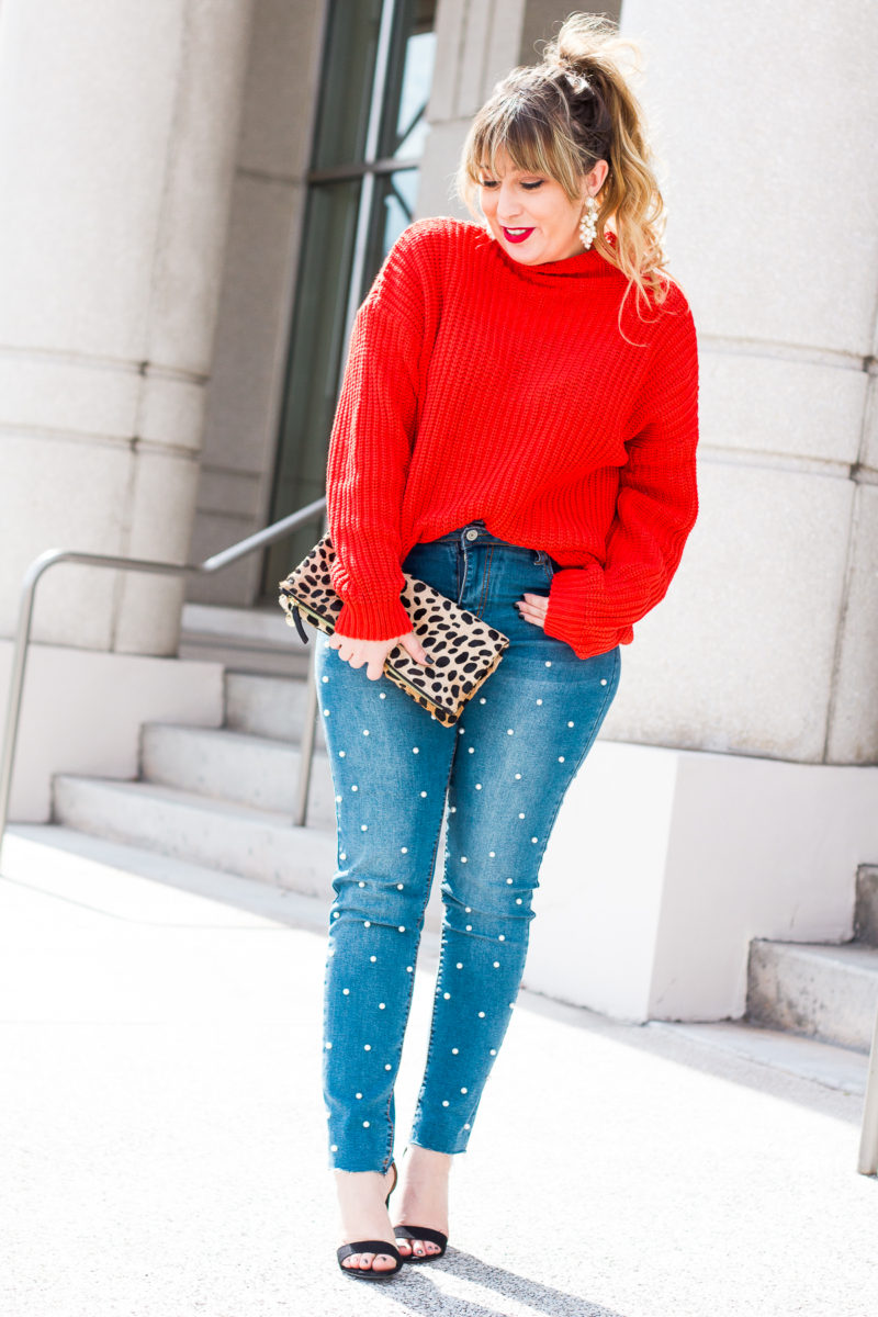 Pearl jeans for Valentine's Day