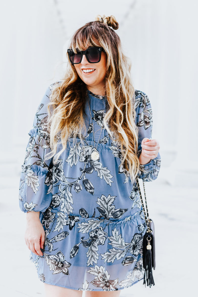 Spring dresses- blue floral dress
