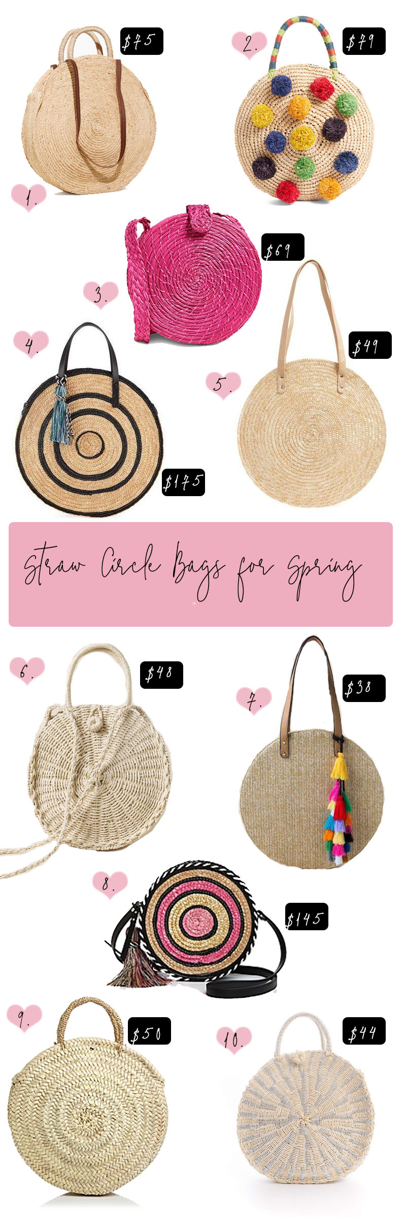 Straw Circle Bags for Spring