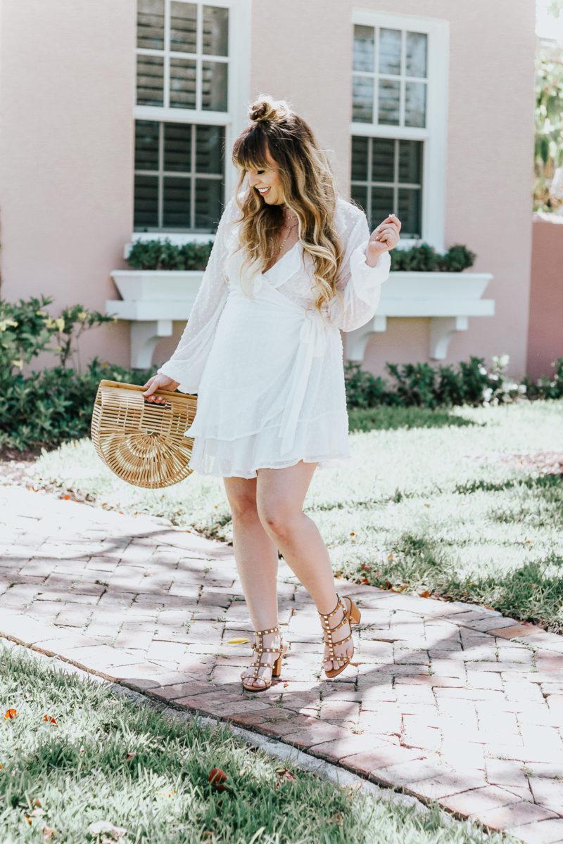 White swiss dot wrap dress ofr spring_-12