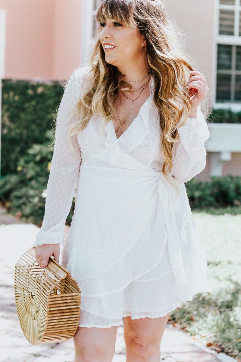 White swiss dot wrap dress ofr spring_-17