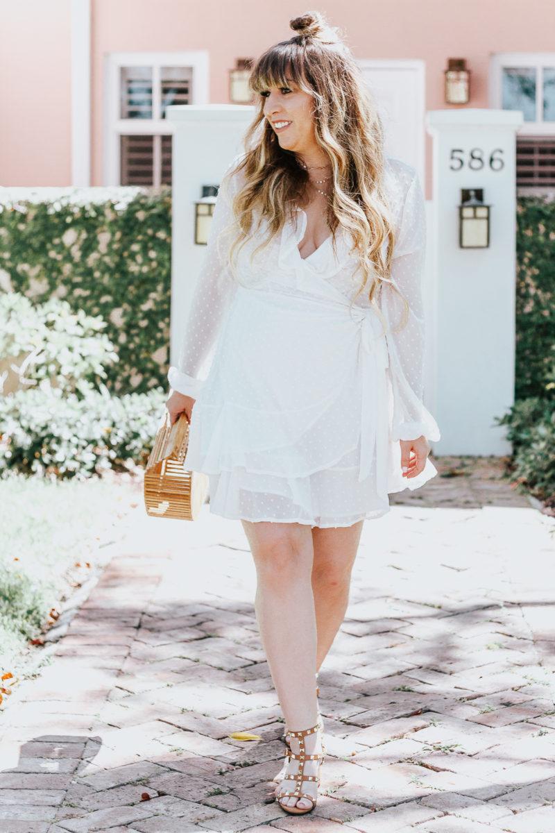 White swiss dot wrap dress ofr spring_-5