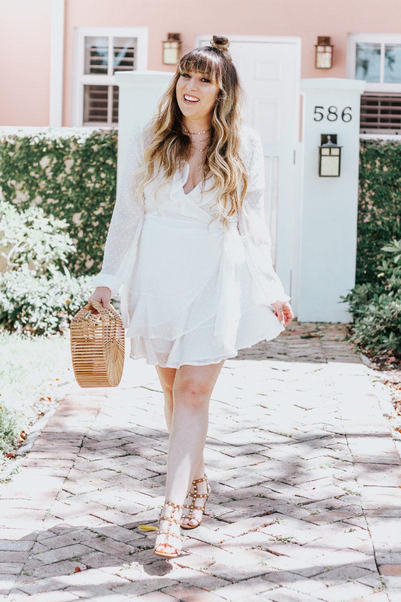 White swiss dot wrap dress ofr spring_-6