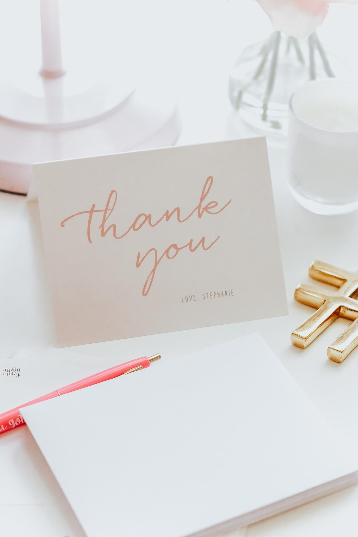 Basic Invite Thank You Notes
