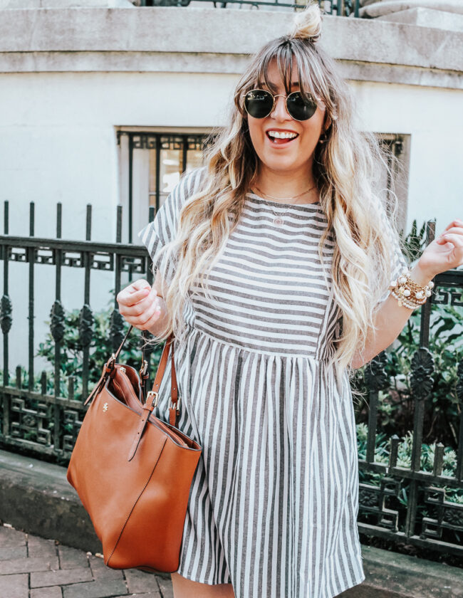 Easy gray striped dress for summer-15