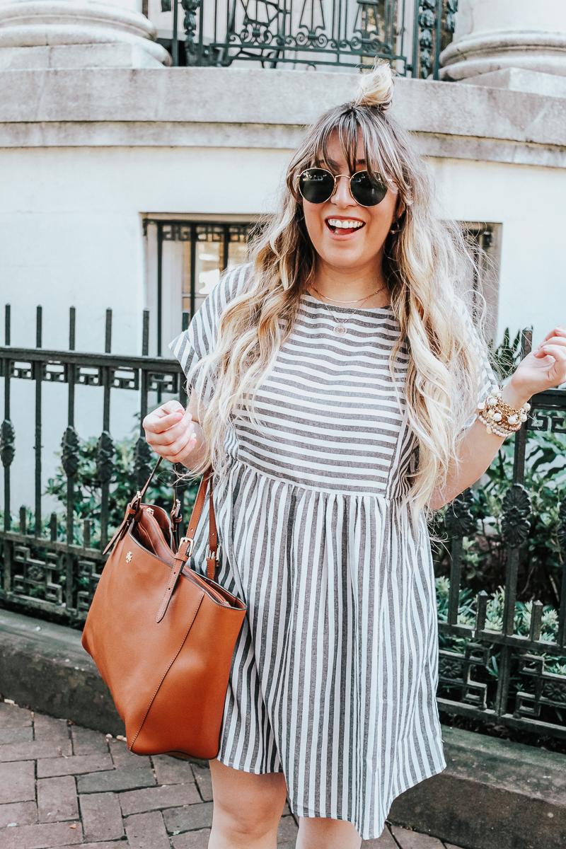 Easy gray striped dress for summer-15