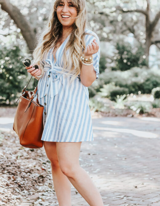 Striped dress for summer
