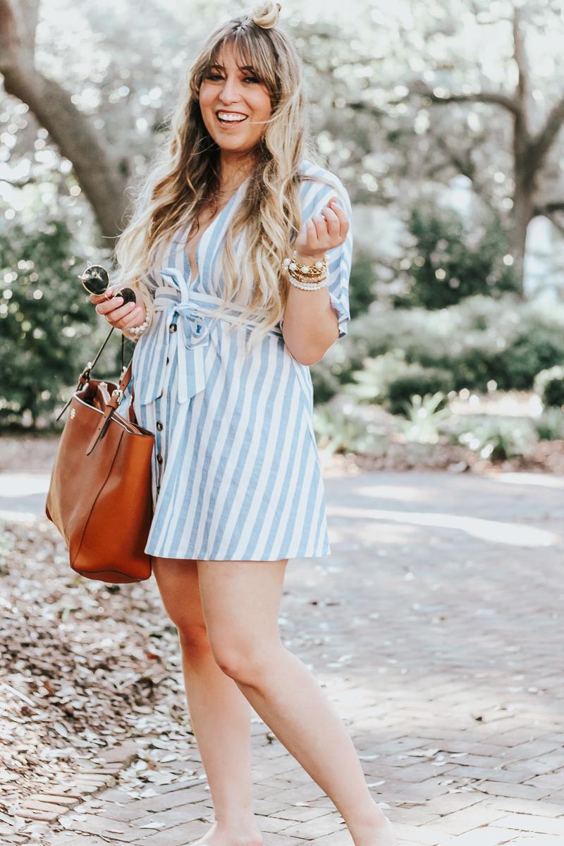 Striped dress for summer