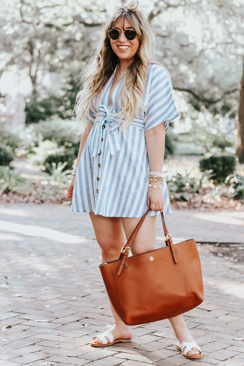 Shein-blue-and-white-stripe-dress-2