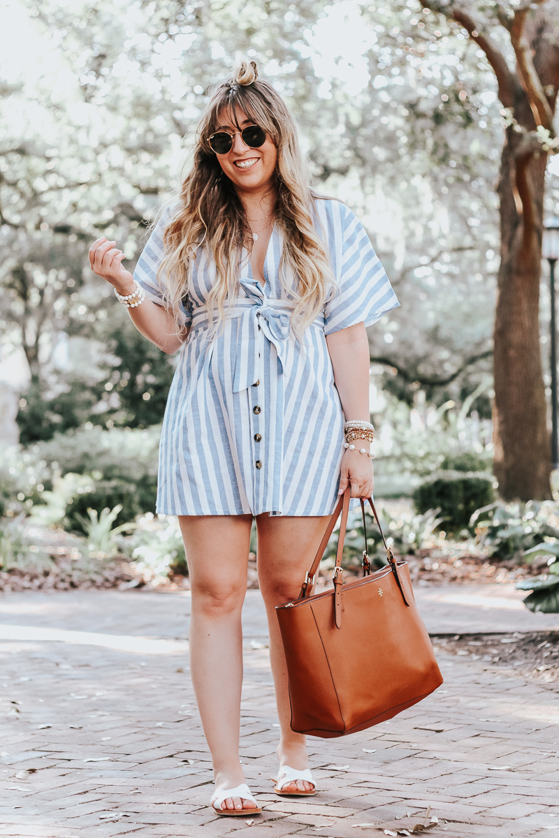 Shein-blue-and-white-stripe-dress-6