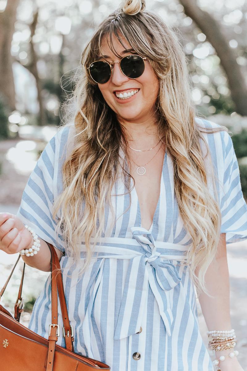 Shein-blue-and-white-stripe-dress