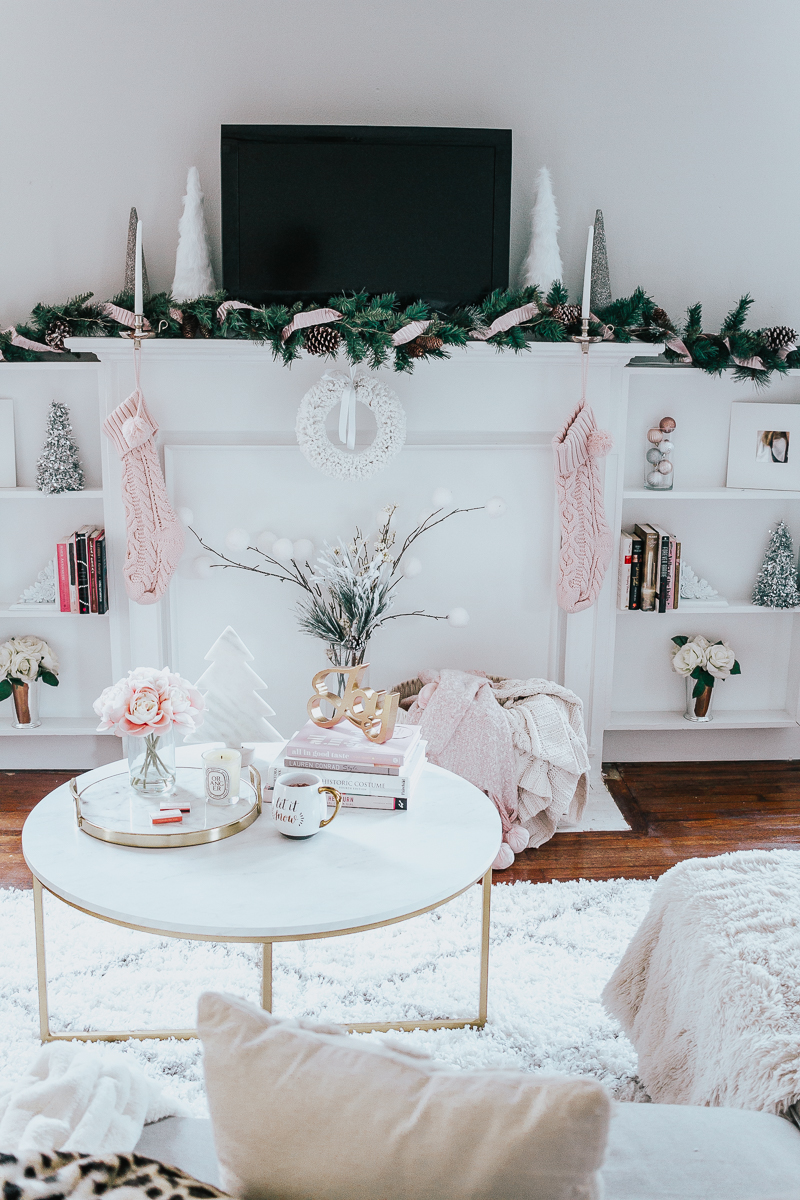 Holiday Home Tour- Glam Holiday Living Room-13