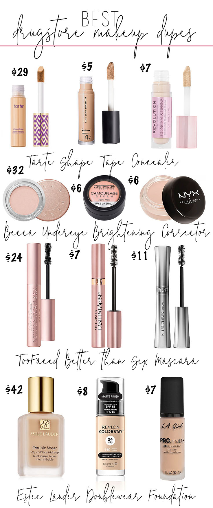 Best Drugstore Makeup 2019 Best Makeup Dupes From the Drugstore • Drugstore Makeup Dupes