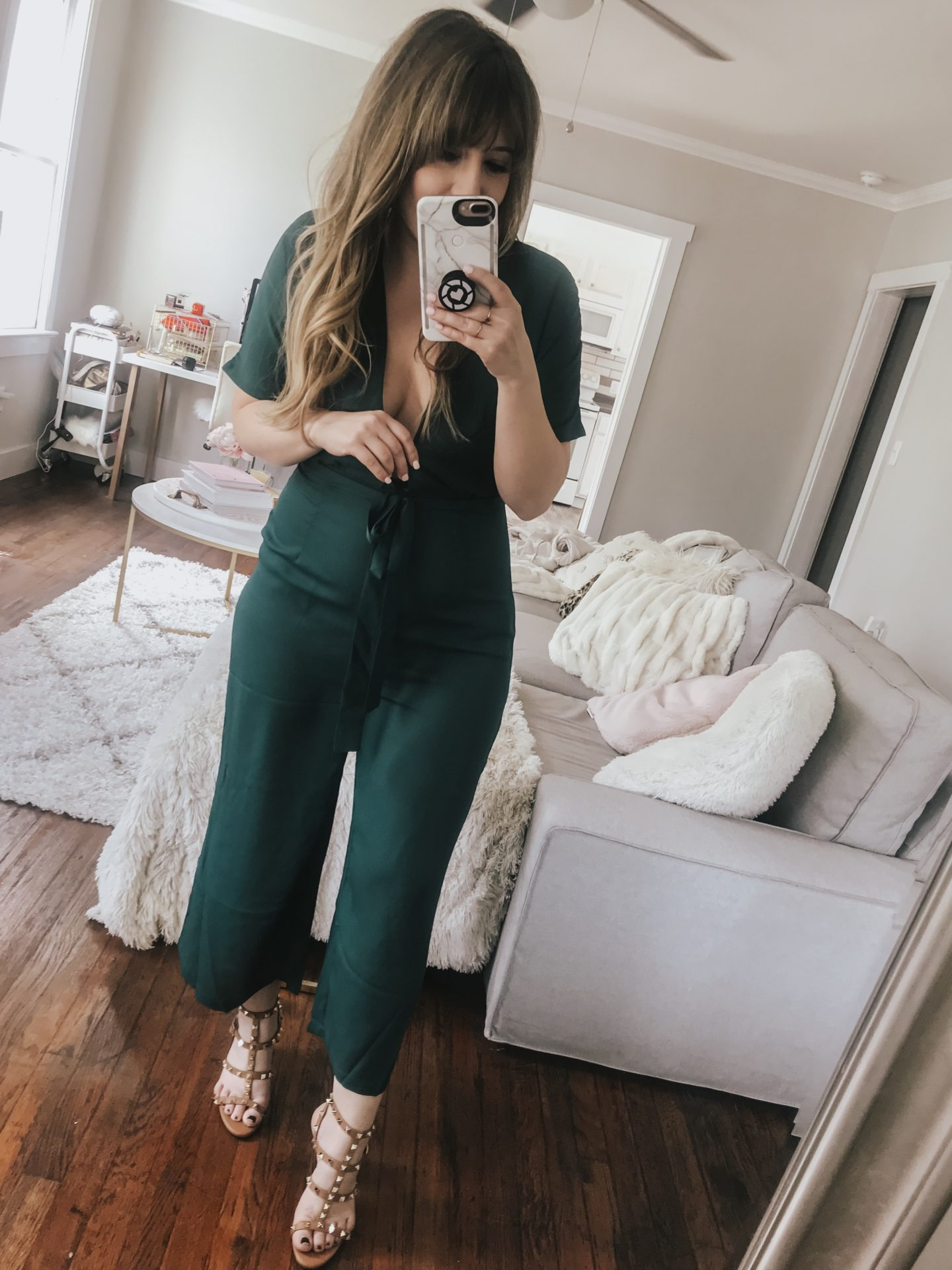 Amazon plunging neckline jumpsuit